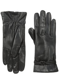 Isotoner Leather Gloves With Fleece Lining