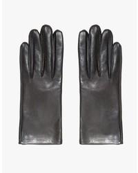 Italian Leather Glove In Black