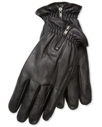 J. Lindeberg Leather Zip Gloves