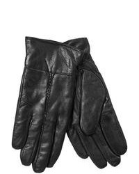 Jacob Ash Leather Gloves Black