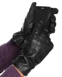 John Ashford Gloves Faux Leather Touchscreen