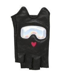 Karl Lagerfeld Ski Holiday Leather Fingerless Gloves