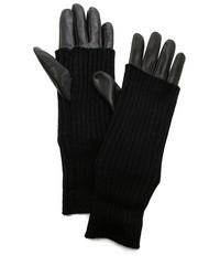 Knit leather texting gloves medium 15484