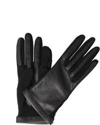 Lanvin Short Leather Jersey Glove