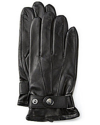 Roundtree & Yorke Leather Buckle Gloves