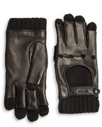 Gucci Leather Cashmere Gloves