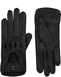Barneys New York Leather Driving Gloves