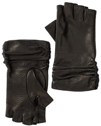 Portolano Leather Fingerless Slouch Gloves