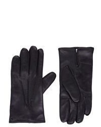 Barneys New York Leather Gloves Black Size 95