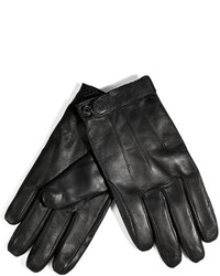 Marc by Marc Jacobs Leather Gloves In Black
