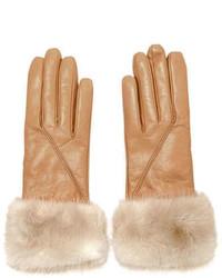 Leather Gloves W Mink Fur