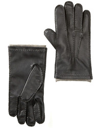 Amicale Leather Gloves With Cashmere Lining