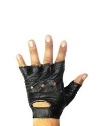 Leather in Chicago, Inc. Black Leather Fingerless Gloves
