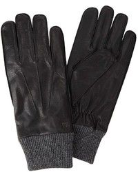 Haggar Leather Knit Gloves