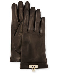 Portolano Leather Lock Cuff Gloves