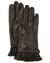 Rebecca Minkoff Leather Mini Tassel Gloves Black