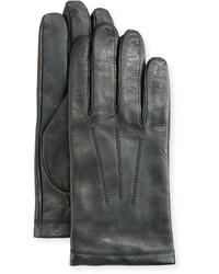 Neiman Marcus Leather Tech Dress Gloves Black