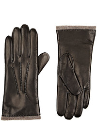 Barneys New York Leather Touchscreen Compatible Gloves