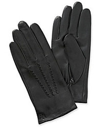 Lauren Ralph Lauren Leather Whip Stitch Points Gloves