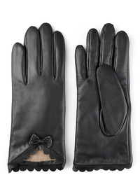 Journee Collection Leather Wool Lined Gloves