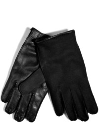 Neil Barrett Leatherwool Gloves In Black