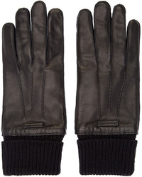 Burberry London Black Leather Gloves