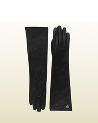 Gucci Long Leather Gloves