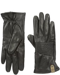 Mackage Nira Leather Touchscreen Glove With Ribbed Detail