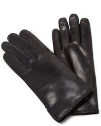 Maison Fabre Black Leather And Rabbit Fur Gloves