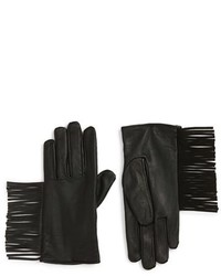 Maison Scotch Fringe Thinsulate Insulated Leather Gloves
