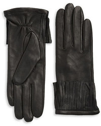 Michael Kors Michl Kors Fringe Cuff Leather Driving Gloves