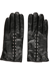 Michael Kors Michl Kors Leather Embellished Gloves