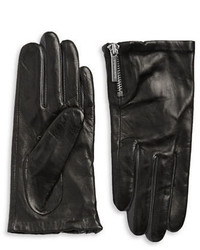 Michael Kors Michl Kors Zip Cuff Leather Gloves
