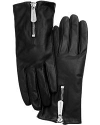 MICHAEL Michael Kors Michl Michl Kors Leather With Zipper Gloves