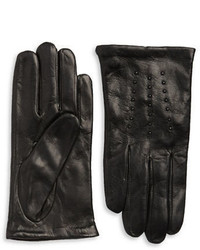 Michael Kors Michl Kors Stud Accented Leather Gloves