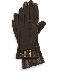 MICHAEL Michael Kors Michl Michl Kors Belted Leather Gloves