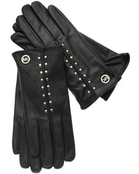 MICHAEL Michael Kors Michl Michl Kors Leather Astor Studded Gloves With Touch Tips