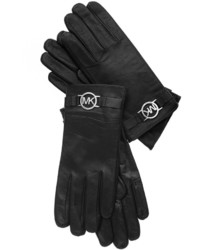 MICHAEL Michael Kors Michl Michl Kors Leather With Logo Gloves With Touch Tips