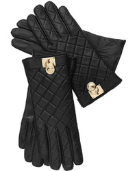 MICHAEL Michael Kors Michl Michl Kors Quilted Leather Hamilton Lock Gloves With Touch Tips