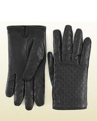 Gucci Microssima Leather Gloves