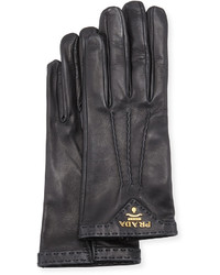 Prada Napa Leather Gloves Black