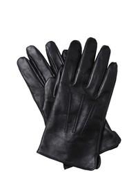 Next Standard Leather Gloves Genuine Leather Black Three Stitches