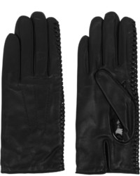 Nina Ricci Whipstitched Leather Gloves