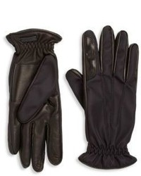 Prada Nylon Nappa Leather Gloves