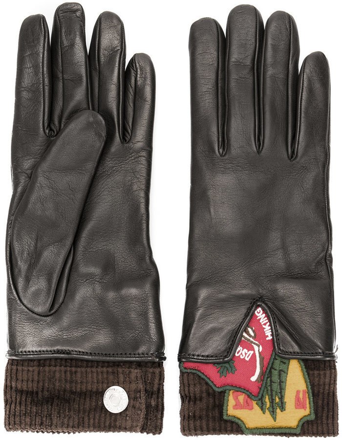Dsquared2 Patch Detail Gloves