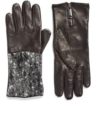 Fabiana Filippi Pebble Tweed Leather Gloves