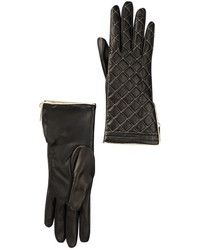 Portolano Metallic Quilted Leather Glove