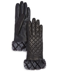 UGG Quilted Croft Leather Tech Gloves