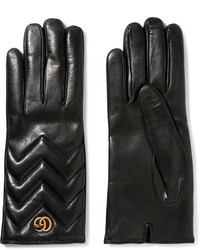 Gucci Quilted Leather Gloves Black