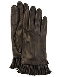 Rebecca Minkoff Leather Mini Tassel Gloves Black